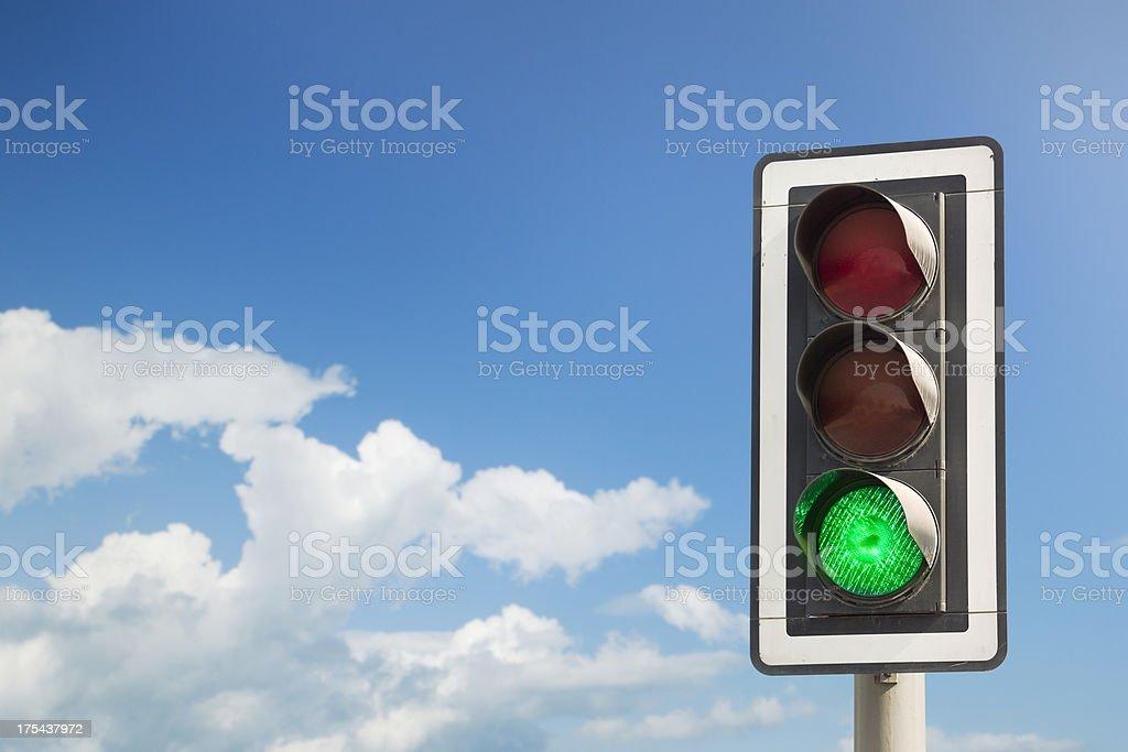 Luz verde - foto de stock