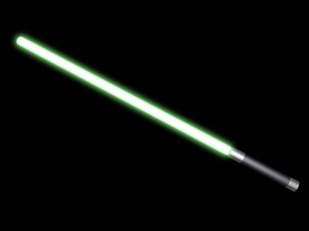 Green light saber stock photo