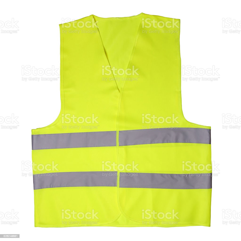 Green light vest stock photo