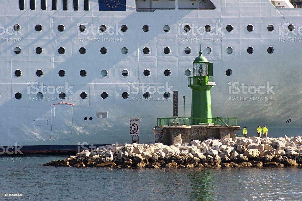 Farol de Green na frente do navio - foto de acervo