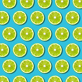 Top view of sliced citrus fruits