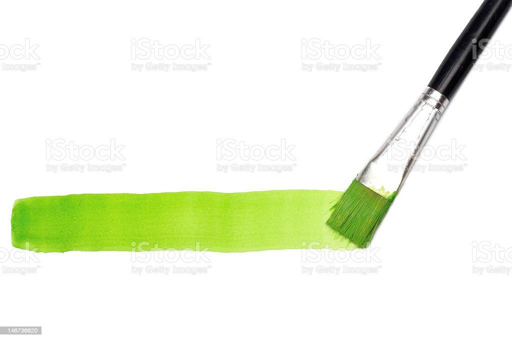 Green line and brush stock photo