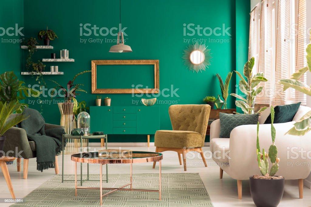 Green living room interior - Royalty-free Apartment Stock Photo
