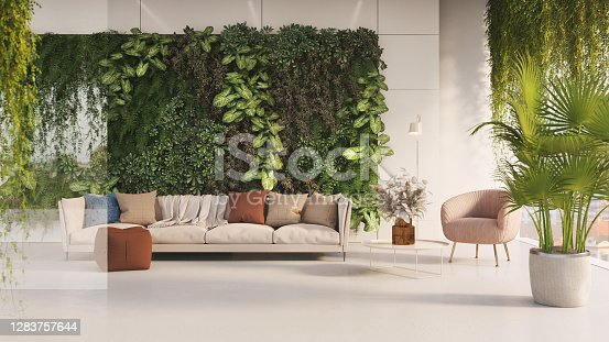 istock Green living room 1283757644