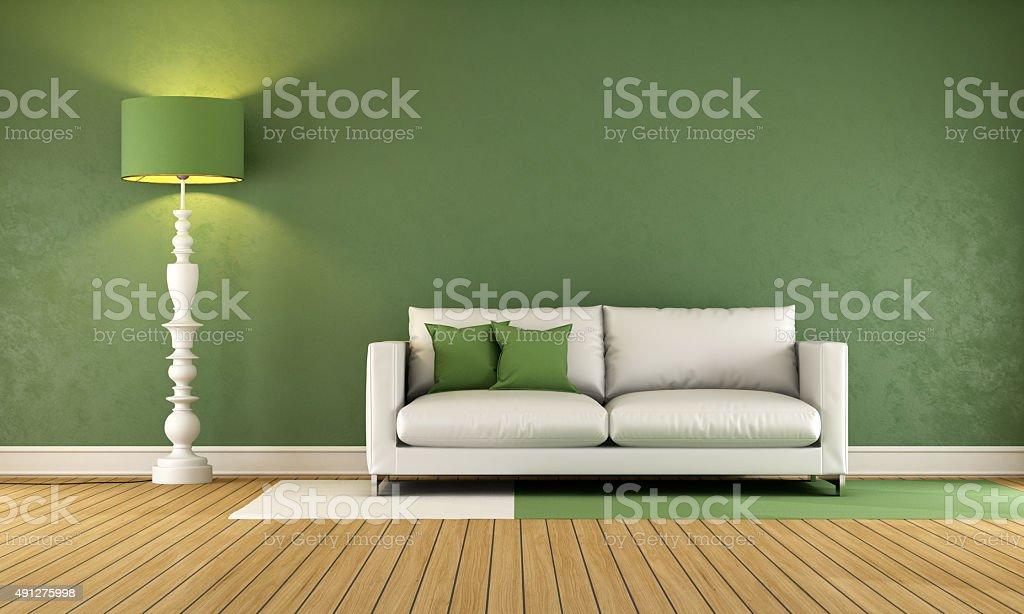 Green Living room stock photo