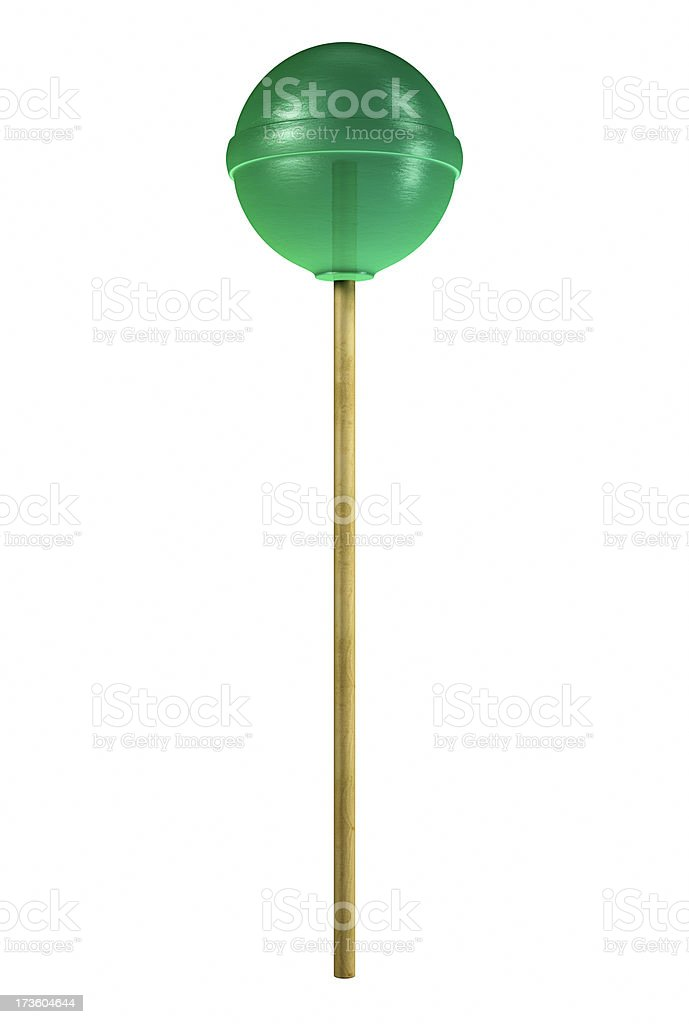 Green Lollipop - Candy royalty-free stock photo