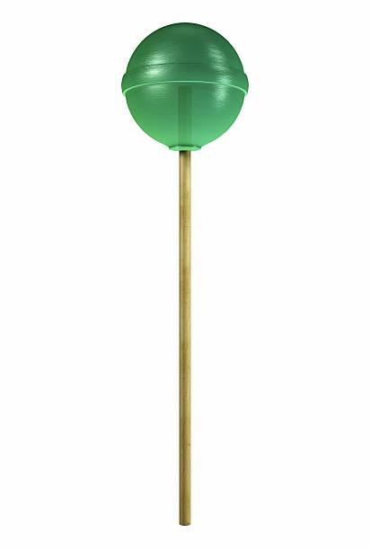 Green Lollipop - Candy stock photo