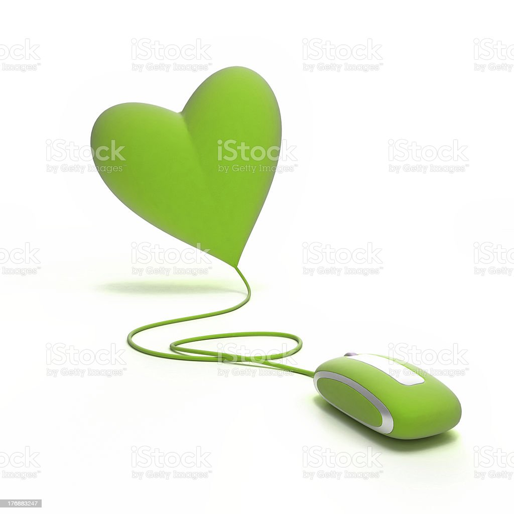 Green Love online royalty-free stock photo