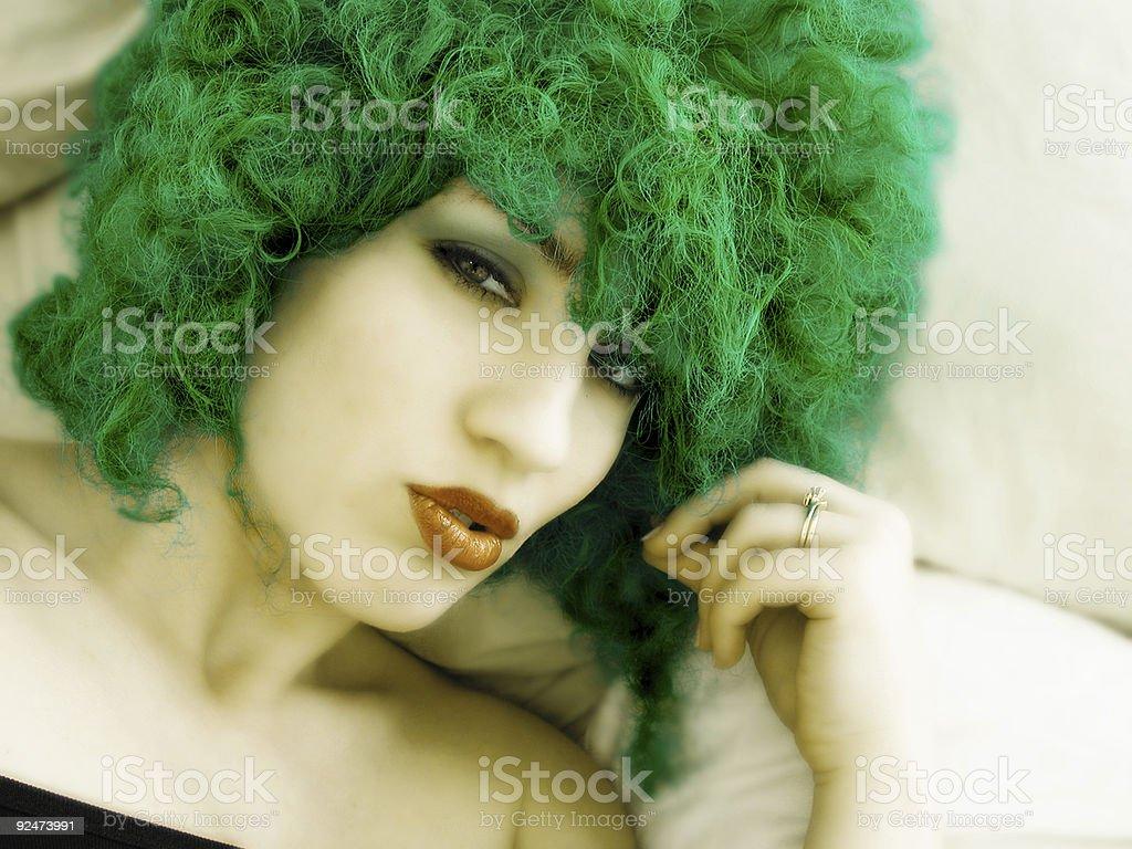 Green Love royalty-free stock photo