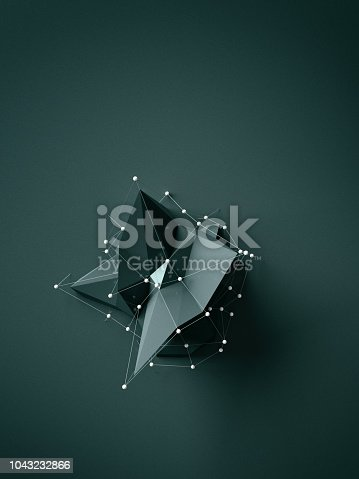 687269072istockphoto Green low poly object 1043232866