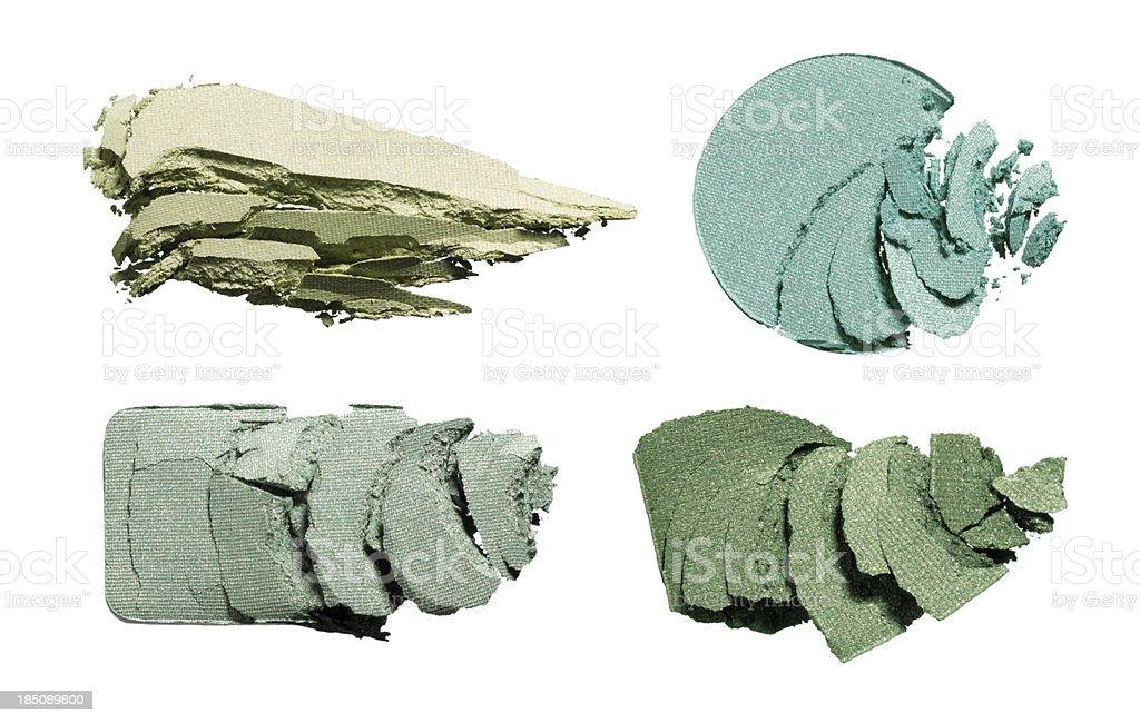 Green makeup stock photo