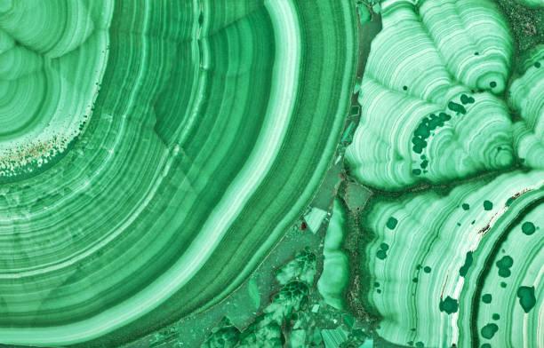 green malachite beautiful texture macro - malachiet stockfoto's en -beelden