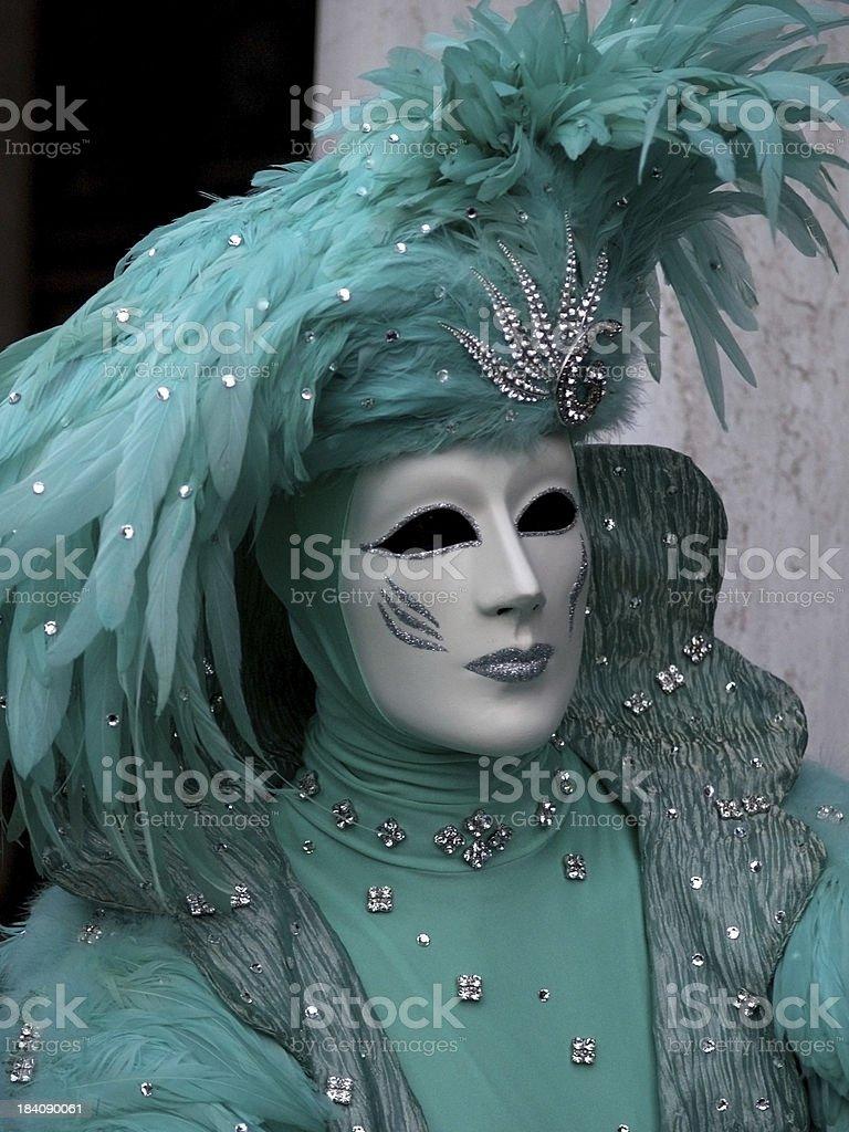 Green Man; Carnival in Venice royalty-free stock photo