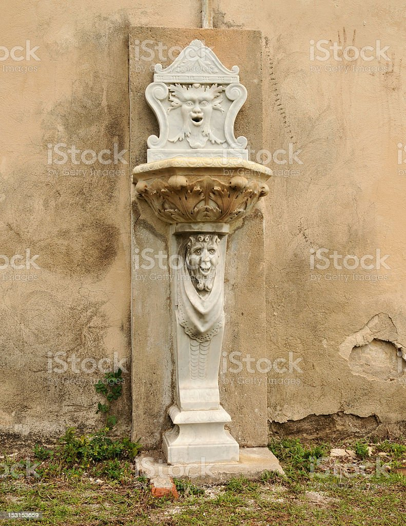 'Green Man' Fountain royalty-free stock photo