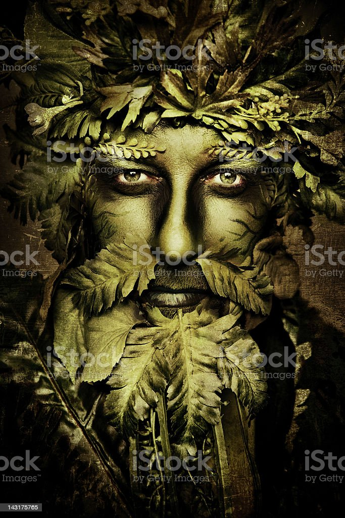 Green Man royalty-free stock photo