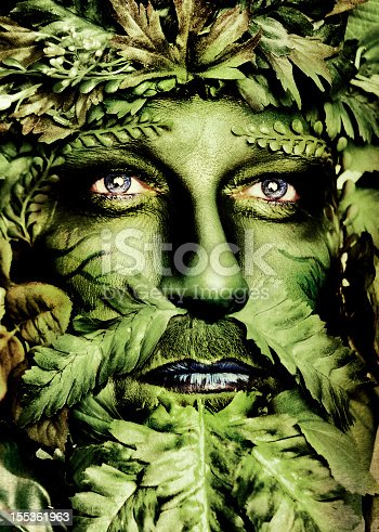 Green Man Series with Earth Eyes.