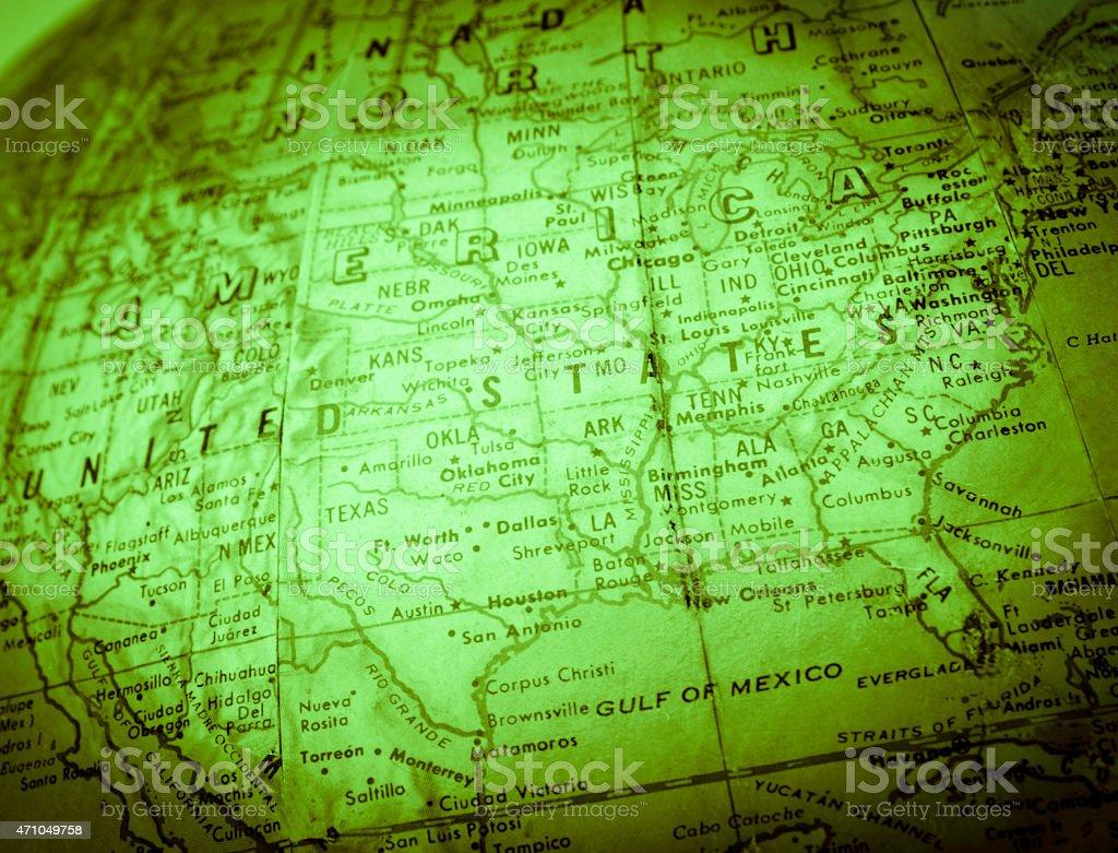Green Map stock photo