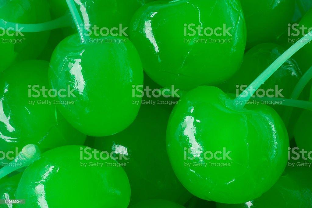 green maraschino cherries royalty-free stock photo