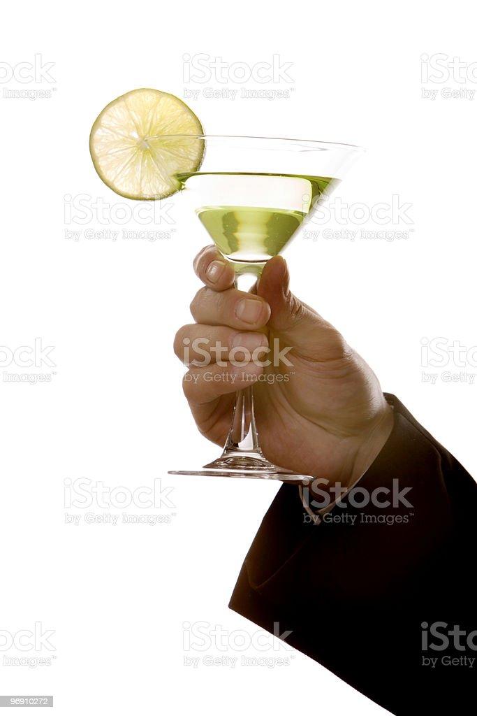 Green martini royalty-free stock photo