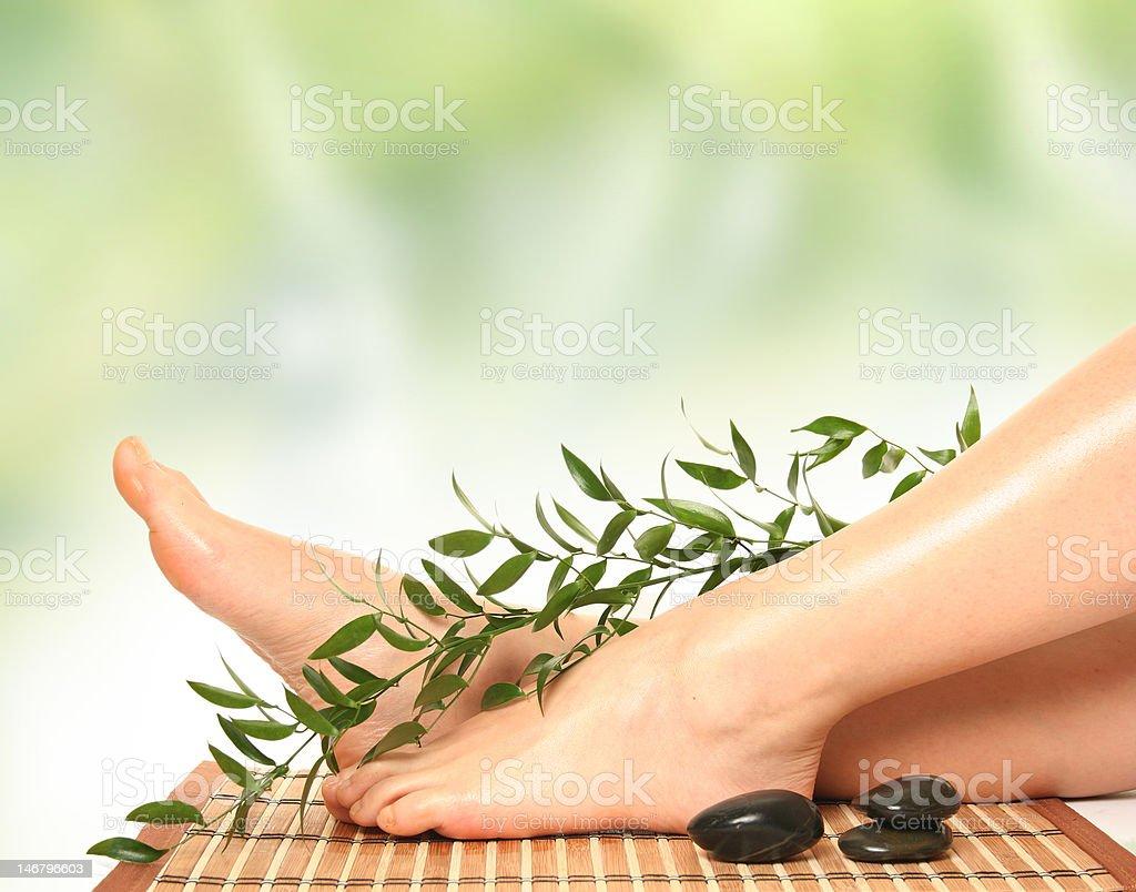 green massage royalty-free stock photo