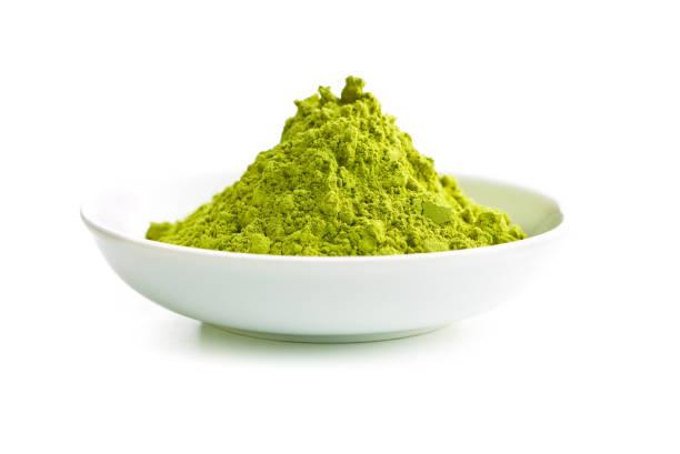 グリーンの抹茶パウダー - 抹茶 ストックフォトと画像