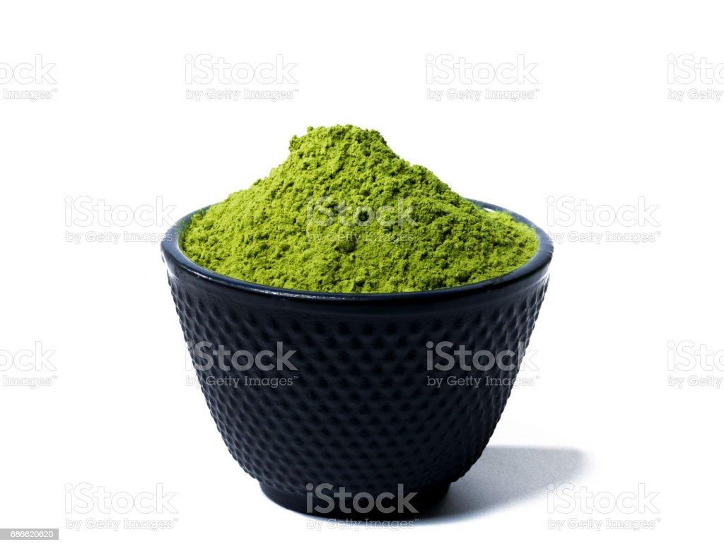 green matcha tea powder royalty-free stock photo