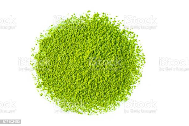 Photo of green matcha tea powder