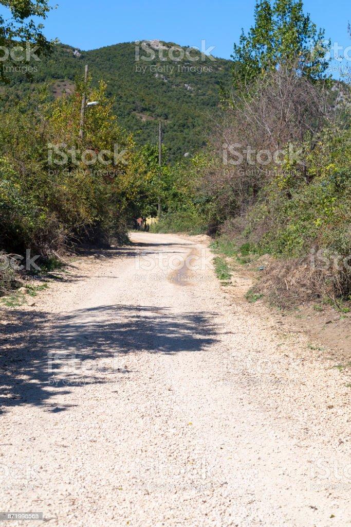 Green meadow landscape in summer from Burcun village, Turkey stock photo