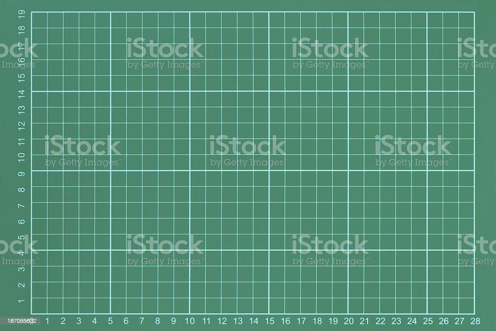 Green measurement grid stock photo