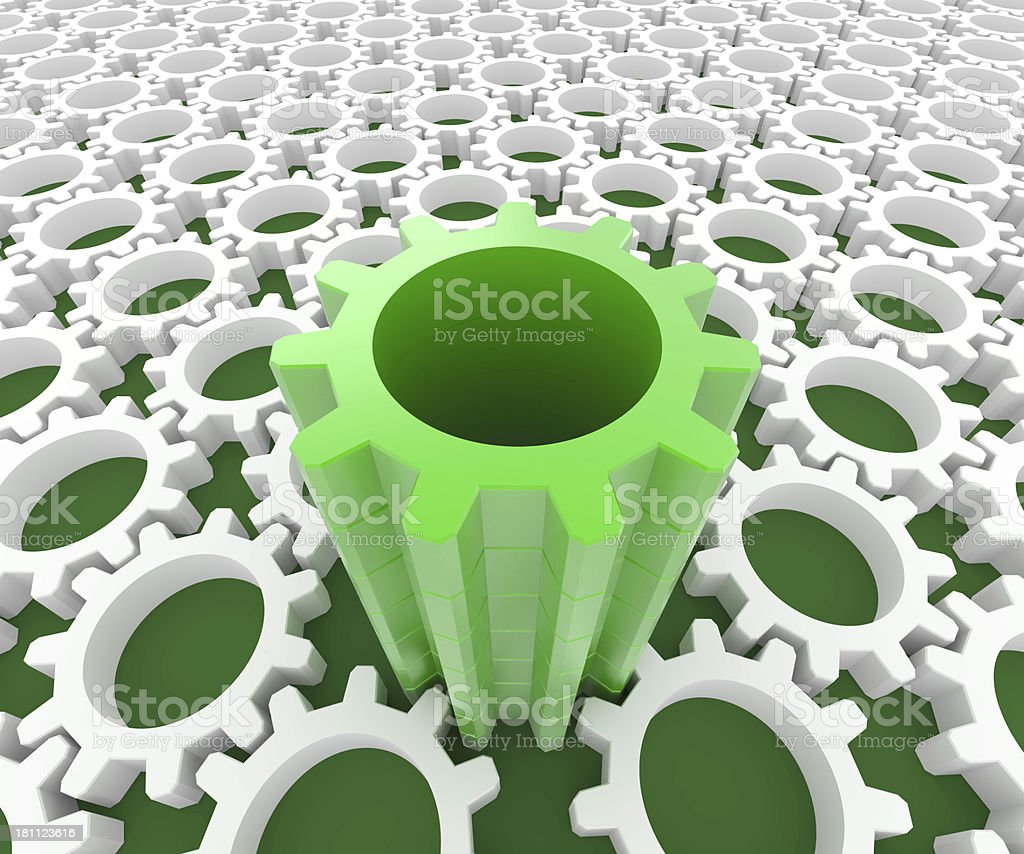 Green Mechanism royalty-free stock photo