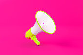 istock Green Megaphone on Pink Background 1150832244