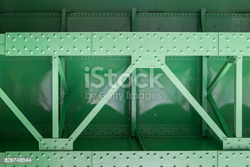 istock green metal bridge structure for support trains 826748544