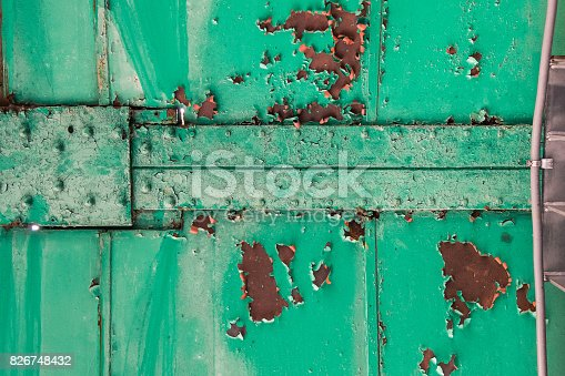 826748544 istock photo green metal bridge structure for support trains with rust 826748432