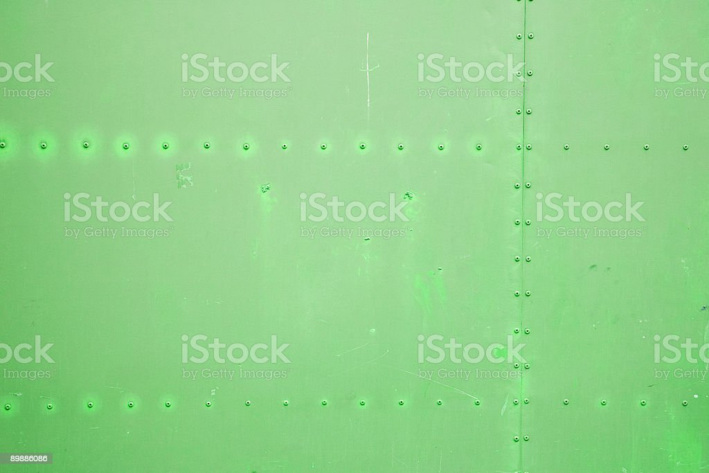 Green metal plate royalty free stockfoto
