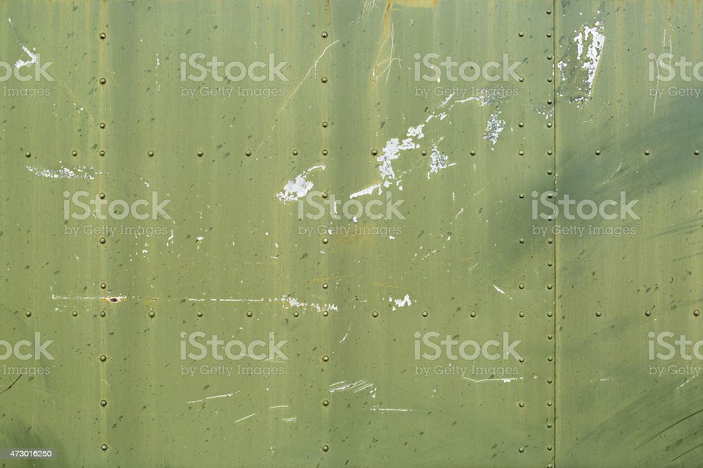 Green metal plates stock photo