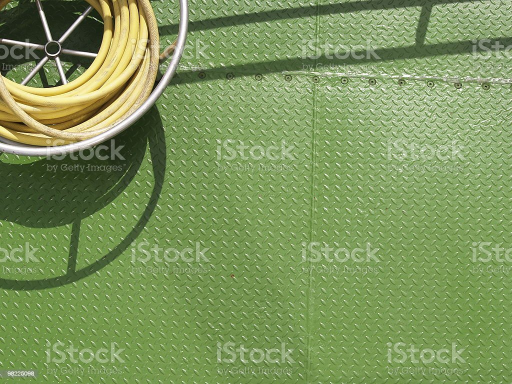 Green Metal Ship Deck royalty-free stock photo