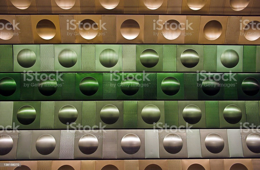 green metallic circles royalty-free stock photo