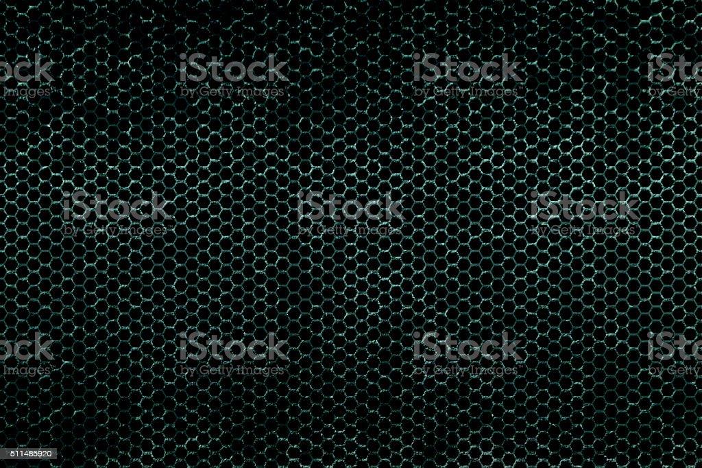 green metallic mesh background texture stock photo