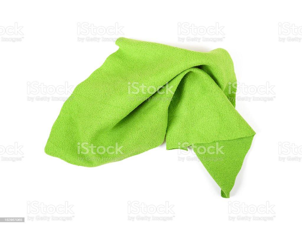 Green micro fibre cloth stock photo