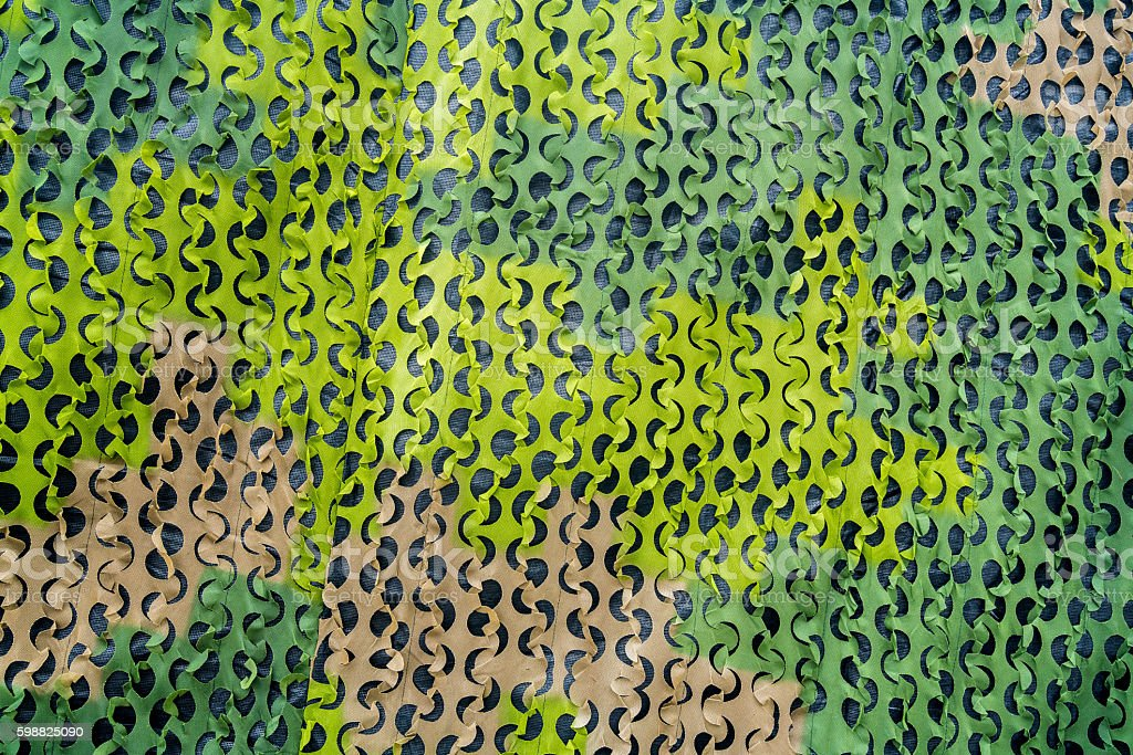 Green military camouflage net with different shades. royalty-free stock photo