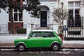 Green Mini car