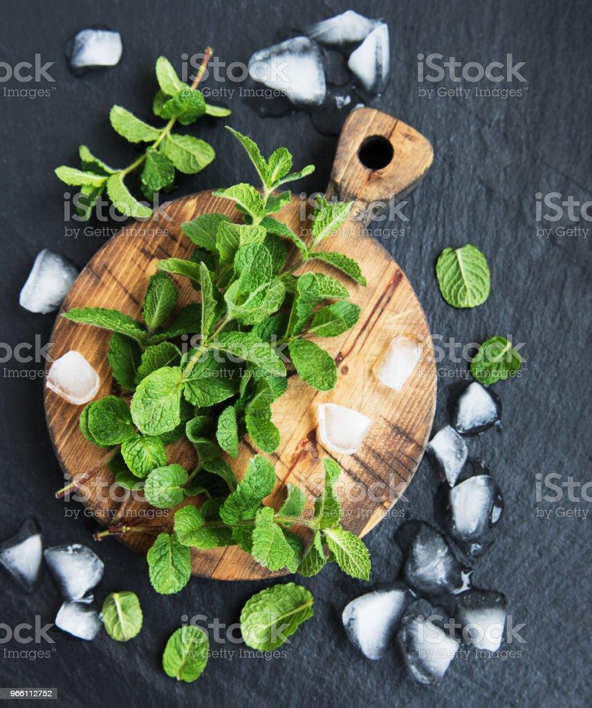 Green mint and ice - Royalty-free Ao Ar Livre Foto de stock