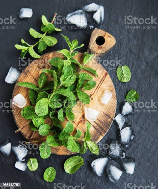 Зеленая Мята И Лед — стоковые фотографии и другие картинки Вертикальный