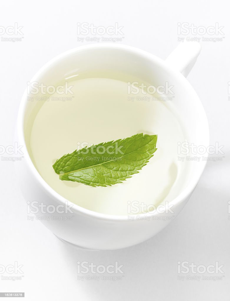 Green mint tea. royalty-free stock photo