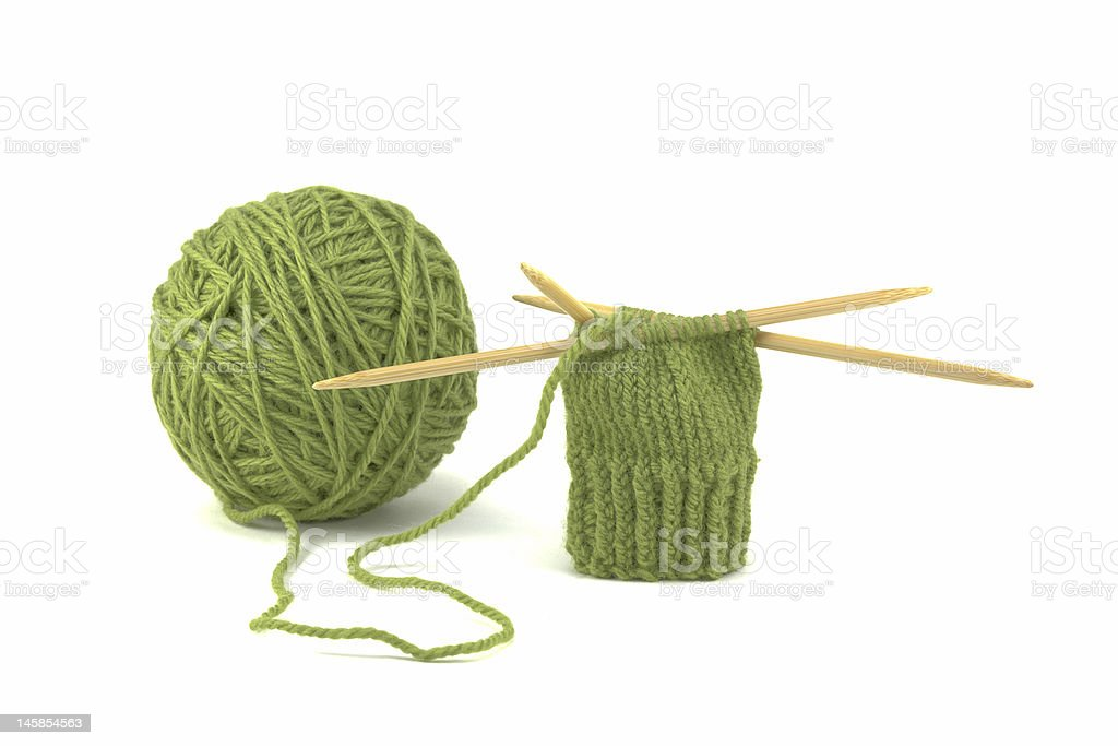 Green Mitten Project royalty-free stock photo