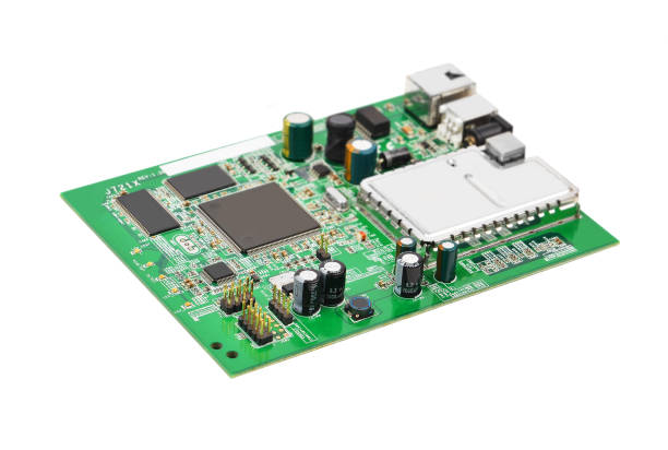 green modem motherboard - bit binary stock pictures, royalty-free photos & images