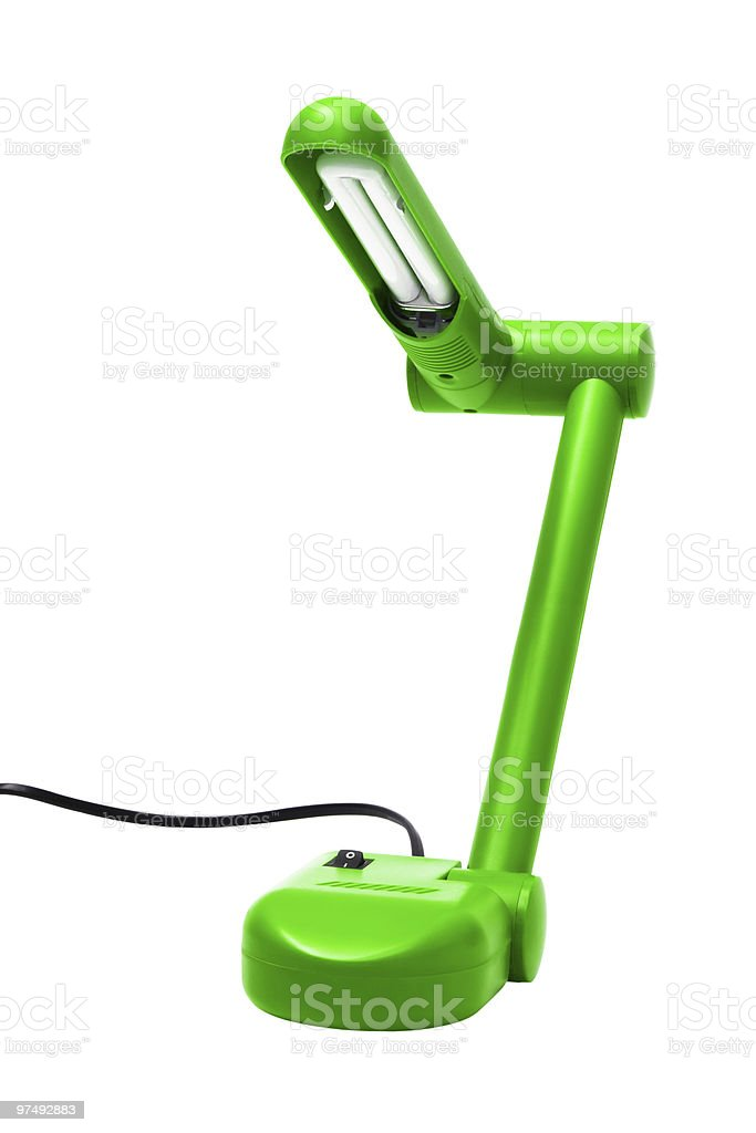 green modern lamp royalty-free stock photo