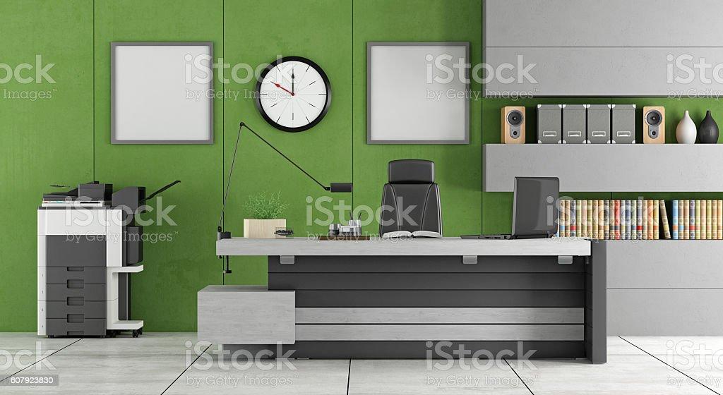 Green modern office bildbanksfoto