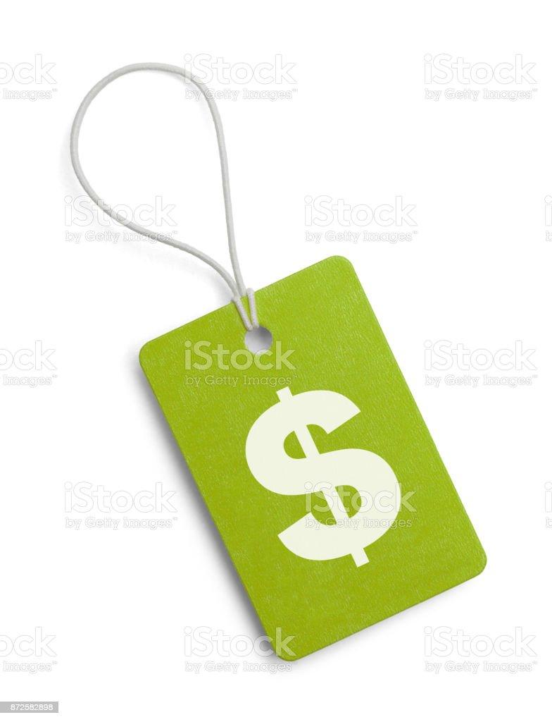 Green Money Tag stock photo