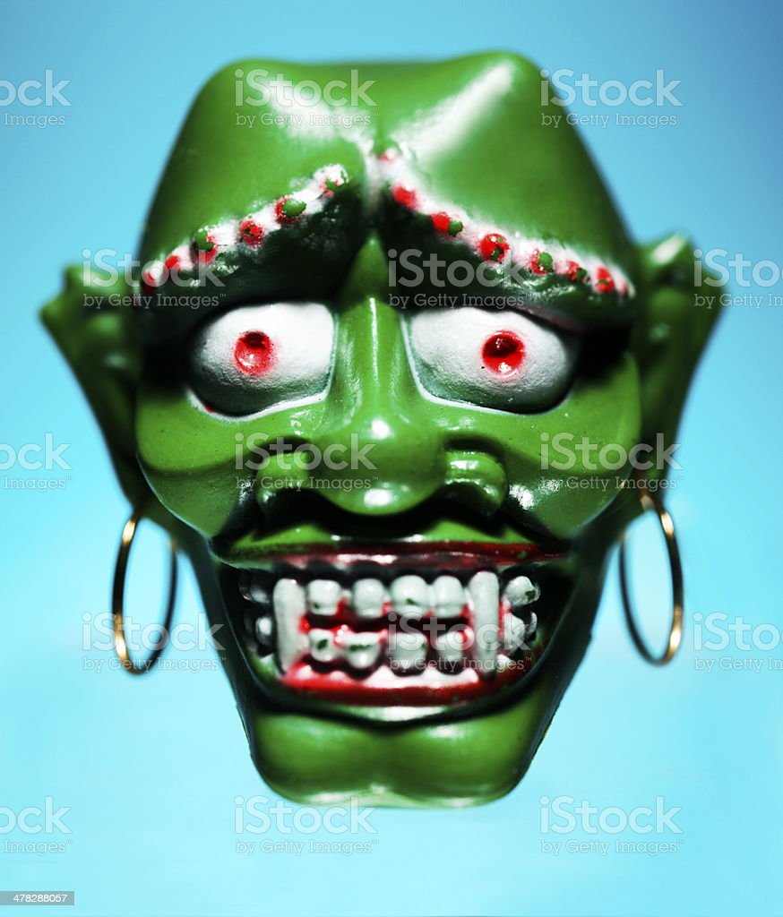 Green Monster Head royalty-free stock photo